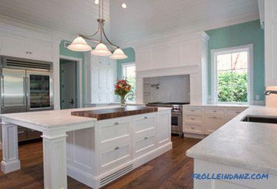 Weiße Küche in einem Interieur - 41 Fotos Idee eines Interieurs ...