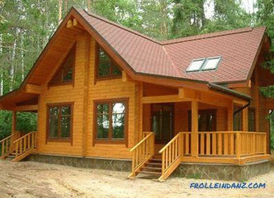 Bauen Sie selbst ein Haus aus einem Holz: Anweisungen